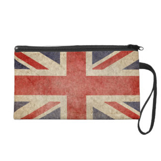 Faded British Flag Wristlet