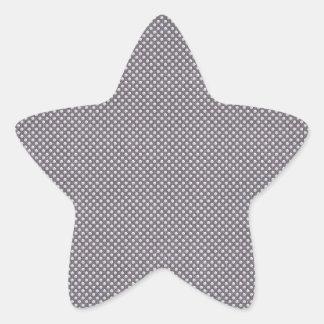 FADED BROWN WHITE POLKA DOTS POLKADOTS CIRCLES BAC STAR STICKER
