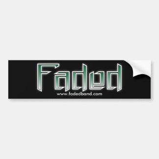 Faded bumper sticker - Black