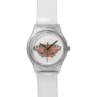 faded butterfly wrist watches