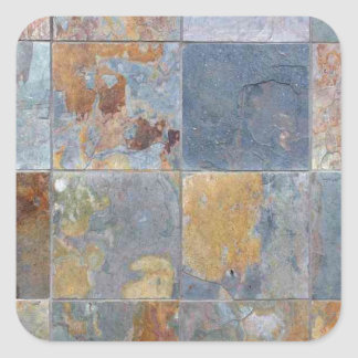 Faded chipping blue orange brick tiles stickers