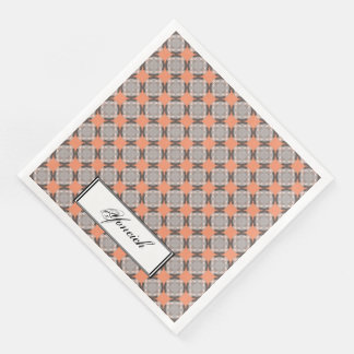 Faded Circle Grid by Kenneth Yoncich Disposable Napkins