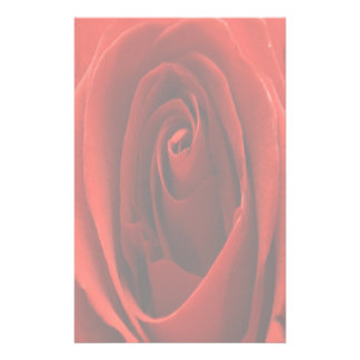 Faded Classic Red Rose Stationery