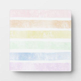 Faded color background stripes plaque
