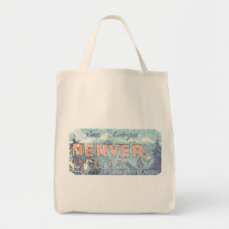 Faded Denver Tote Bag