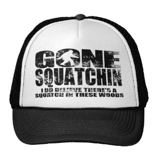 Faded Distressed Gone Squatchin Trucker Hat