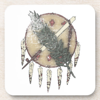 Faded Dreamcatcher Beverage Coaster