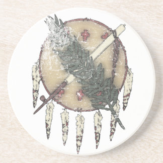 Faded Dreamcatcher Beverage Coasters