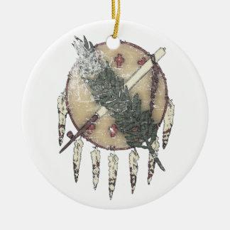 Faded Dreamcatcher Ceramic Ornament