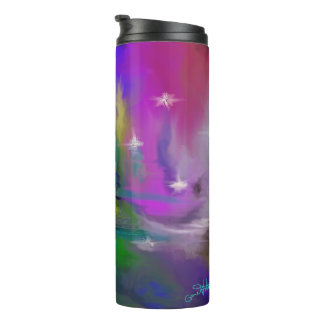 Faded Fireworks Abstract Design Thermal Tumbler