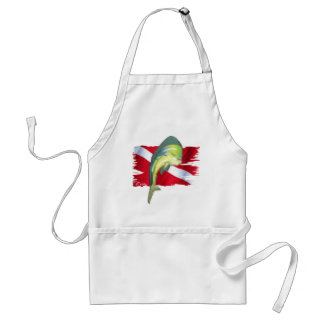 Faded Fish Collection by DiversDen Standard Apron