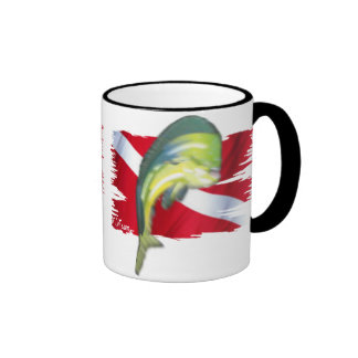 Faded Fish Collection by DiversDen Ringer Mug