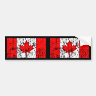 Faded Flag Of Canada Car Bumper Sticker