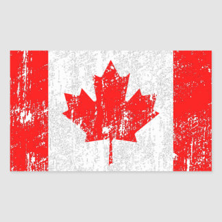 Faded Flag Of Canada Rectangular Sticker
