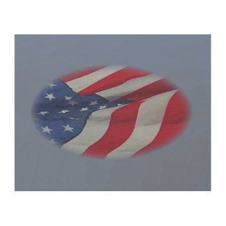 FADED FLAG WOOD WALL ART