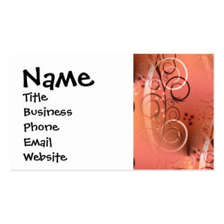 Faded Floral Swirl Coral Peach Gifts for Her Business Card Template