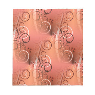 Faded Floral Swirl Coral Peach Gifts for Her Notepad