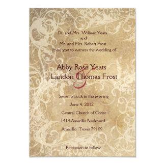 Faded Floral Wedding Invitation