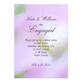 Faded Flower Engagement Invitation