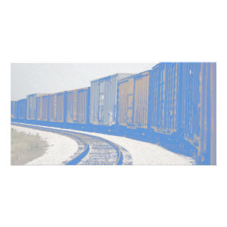 Faded Freight Train Photo Card