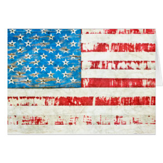 Faded Glory American Flag Note Card