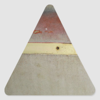 Faded Green, Red, Blue & Yellow rusted Triangle Sticker