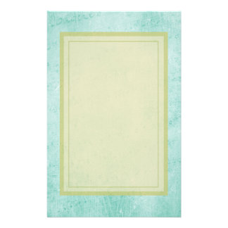 Faded Green Vintage paper texture Stationery Design
