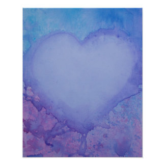 "Faded Heart 20"" x 16"", Value Poster Paper (Matte)"