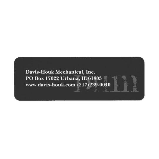 Faded Initial's Return Address Label