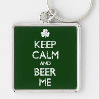 Faded Keep Calm And Beer Me Key Chains