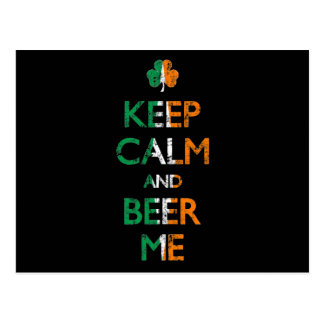 Faded Keep Calm And Beer Me St Patrick's Day Postcard