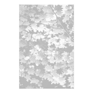 Faded Leaf Pattern Stationery