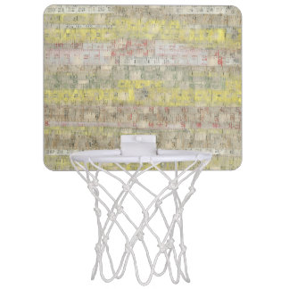Faded Measuring Tape Background Mini Basketball Hoop