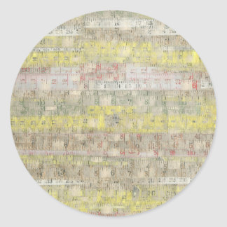 Faded Measuring Tape Background Round Stickers