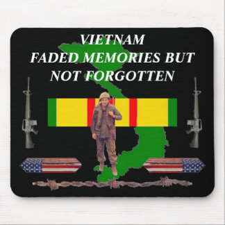 Faded Memories Caskets Vietnam Mousepad 2/b