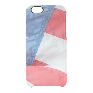 Faded Old Glory Clear iPhone 6/6S Case