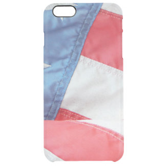 Faded Old Glory Clear iPhone 6 Plus Case