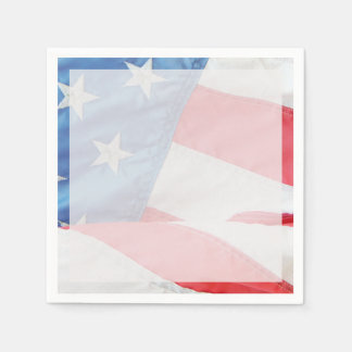Faded Old Glory Paper Napkin