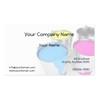 Faded Paint Cans in Turquoise Pink Yellow Black Pack Of Standard Business Cards