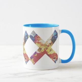 Faded Pastel X Mug By Megaflora