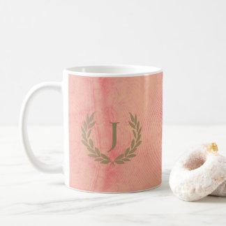 Faded Peach Fractal Coffee Mug Customizable