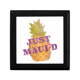 Faded Pineapple Small Square Gift Box