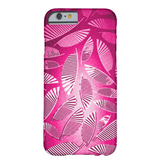 Faded Pink Feathers Grunge Art Barely There iPhone 6 Case