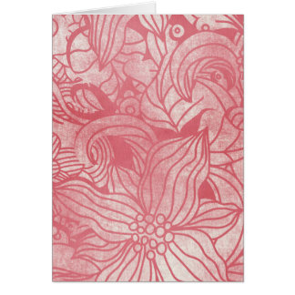 faded pink flowers collage cards