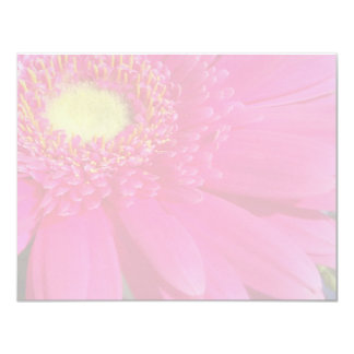 "Faded Pink Gerber Daisy 4.25"" X 5.5"" Invitation Card"