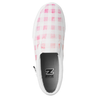 Faded pink gingham Slip-On shoes