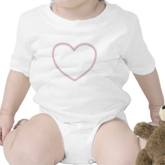 Faded Pink Heart Infant Creeper