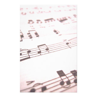 Faded Pink Sheet Music Stationery