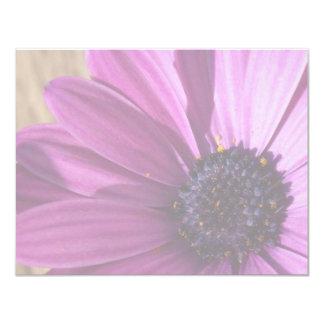 "Faded Purple Daisy 4.25"" X 5.5"" Invitation Card"