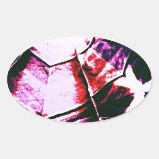 Faded Purple Pattern Oval Sticker